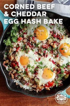 Try the perfect breakfast-to-dinner meal with our hearty Corned Beef & Cheddar Hash Bake.