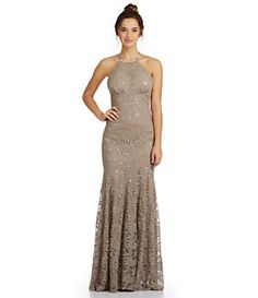 B. Darlin Sequin Lace Trumpet Gown | Dillard's Mobile