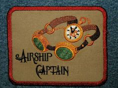 Airship Captain  Iron on Patch by GerriTullis on Etsy, $12.00