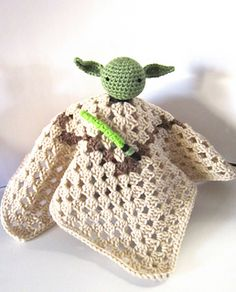 Yoda Inspired Lovey by Kristen's Kords - Free crochet pattern