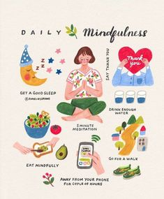 Hello everyone! I hope you are having a nice relaxing weekend. I wanted to upload this illustration again for long time because I made a… Self Care Activities, Self Care Routine, Mindfulness Meditation, Mindfulness Activities, Good Sleep, Healthy Mind, Self Development, Better Life, Self Improvement