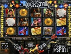 Play the Rock Star 3d video slot game for money or for free at 1OnlineCasino.com