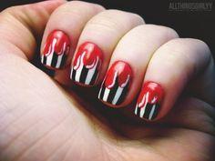 halloween nail art | Tumblr