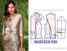 MOLDE CASACO CERIMONIA -27 - Moldes Moda por Medida