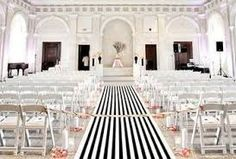 Sale Wedding Aisle Runner Black and White Canopy