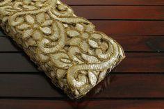 1 Yard Beige Fabric Trim Cut Work by ArtsyCraftsyShoppe on Etsy
