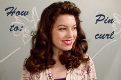 {Vintage beauty} How to do pin-curls