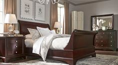 Shop for affordable Dark Wood King Bedroom Sets at Rooms To Go Furniture. Find a variety of styles, options and colors for sale. Dark brown, cherry, espresso, mahogany, and more. #iSofa #roomstogo