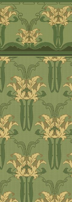 Iris Botanical - Historic Wallpapers - Victorian Arts - Victorial Crafts - Aesthetic Movementwww.aestheticinteriors.com