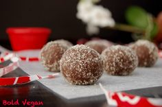 RECIPE: Raw Vegan Cocoa Truffles. A superfood dessert that's gluten free, soy free and nut free. Yeah!