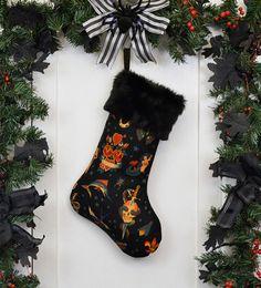 Rockabilly Punk Christmas Stocking Classic by WorkingClassPunx