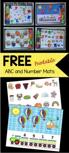 Numbers Preschool, Preschool Literacy, Preschool Letters, Free Preschool, Preschool Printables, Preschool Activities, Morning Activities, Cookie Sheet Activities, Alphabet Activities