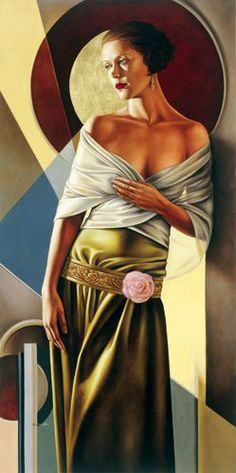 ARTIST: Catherine Abel ~ (Australian Art Déco Figurative painter)