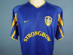 edf924a5b Authentic Leeds United 2001 03 Away Shirt Size Large Nike Strongbow