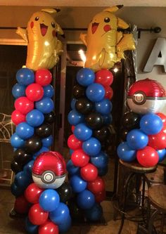 Pokémon balloon decorations