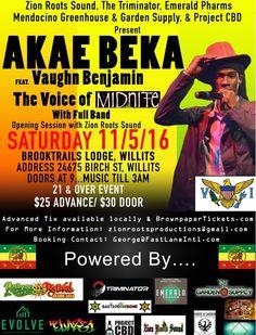 #AkaeBeka #LivicatedTour #AkaeBekaTour #AkaeBekaLive #VaughnBenjamin #Midnite #USVI #VIReggae #AkaeBekaSanfrancisco #BayAreaReggae #AkaeBekaWillits #Mendocino #Reggae #RootsReggae #Livicated