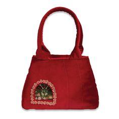 Retro Handbag Red Treasure small based on the by VitaOcculta Fashion Brand, New Fashion, The Secret World, Handmade Handbags, You Bag, Timeless Design, Crossbody Bags, Reusable Tote Bags, Purses