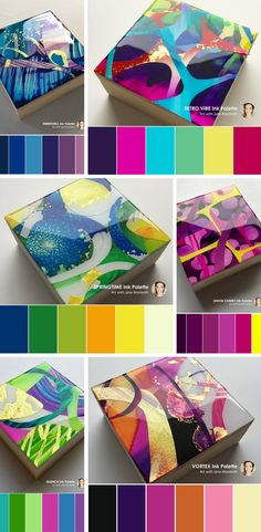 Fab colour palettes created from Jane Monteith's art - MOD Minis