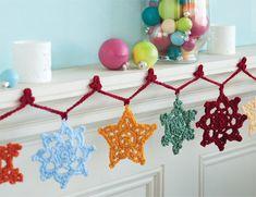 Snowflake Garland | crochet today