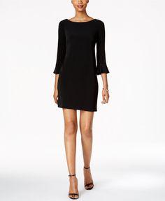 Jessica Howard Petite Bell-Sleeve Sheath Dress - Dresses - Women - Macy's