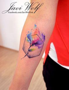 Tattoo artist from Mexico City. Wolf Tattoos, Star Tattoos, Life Tattoos, Watercolour Tattoos, Watercolor Flower, Diy Tattoo, Tattoo You, Tattoo Ideas, Design Tattoo
