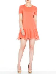 Cynthia Rowley - organdy back ruffle dress