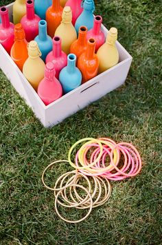 Modern Ring Toss!  Photography: Ruth Eileen - rutheileenphotography.com  Read More: http://www.stylemepretty.com/living/2014/09/11/audreys-birthday-party/