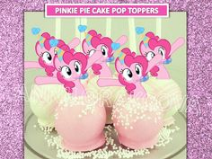 Pinkie Pie Cake Pop Toppers/ Pinkie pie Cupcake Toppers/ My little pony/ Printables/ Instant Download/ You Print 60% OFF by ANNILORACK on Etsy