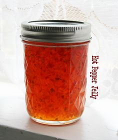 Hot Pepper Jelly Recipe - Pepperhead - This hot pepper jelly is great on everything. Typically served with meats or on a cracker with cream cheese. It's great on hot homemade baking powder biscuits with cream cheese,…