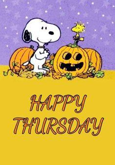 Good Morning Happy Thursday, Happy Thursday Quotes, Peanuts Cartoon, Peanuts Snoopy, Peanuts Halloween, Happy Halloween, Funny Day Quotes, Cartoon Disney, Christmas Tree Quotes