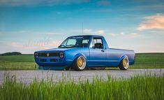Built To Drive: The Dub Dynasty 1981 VW Caddy – Slam'd Mag Vw Caddy Tuning, Vw Caddy Mk1, Volkswagen Golf Mk1, Vw Mk1, Vw Tattoo, Caddy Daddy, Vw Pickup, Audi, Classic Ford Trucks