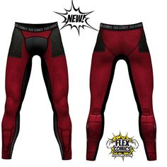 Deadpool Maximum Effort Compression Leggings / Tights (Ships early April)