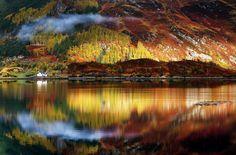Palette of majestic mountains, Scotland