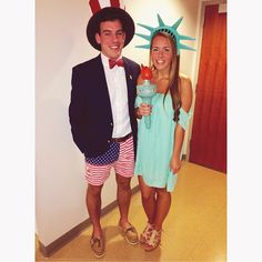 Uncle Sam and Lady Liberty halloween couples costume