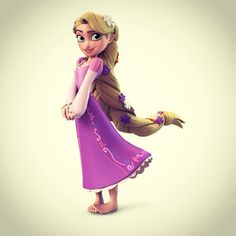 #Rapunzel's hair would weigh about 10 pounds in real life.  Her #DisneyInfinity figure's hair is significantly lighter.