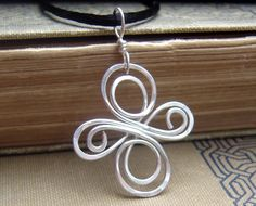 Celtic Knot Cross Sterling Silver Pendant  by nicholasandfelice, $18.00