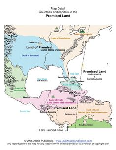 The Book of Mormon geography geography map, DNA, lands Zarahemla, Cumorah, narrow neck, Mexico, Caribbean sea, American Indians...