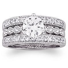 3 Piece Vintage Cz Wedding Ring Set 29 99 Affordable