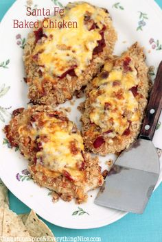 Santa Fe Baked Chicken:4 boneless, skinless chicken breasts (about 1-1/4 pounds) coarse salt and fresh black pepper 1/2 cup olive oil or canola mayonnaise 1 + 1/2 cups tortilla crumbs* 1 + 1/3 cups salsa 1 + 1/3 cups shredded Monterey jack or extra sharp cheddar cheese