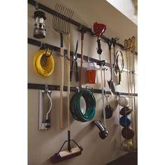 Rubbermaid FastTrack Garage Kit Hooks - The Home Depot garage-organization-hacks Garage Workshop Organization, Workshop Storage, Organization Ideas, Bathroom Organization, Garage Shelving, Garage Storage, Garage Hooks, Garage Racking, Shelving Units