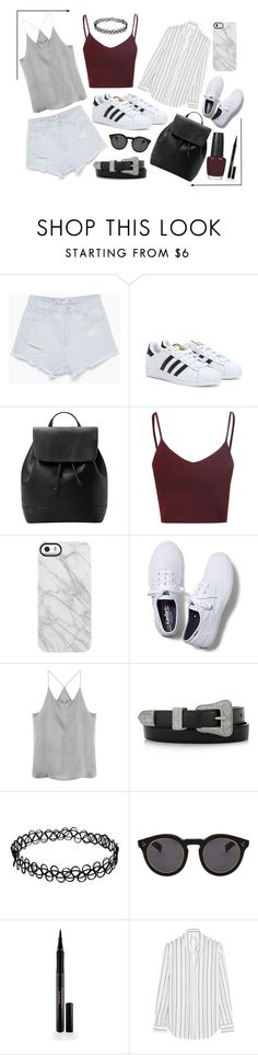 """Clean"" by collinson ❤ liked on Polyvore featuring Zara, adidas, MANGO, Glamorous, Uncommon, Keds, Yves Saint Laurent, Illesteva, Elizabeth Arden and Iris & Ink"