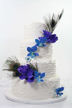 Gateau mariage Plumes de Paon wedding cake