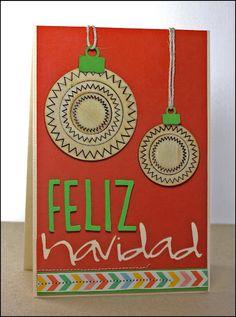 Feliz Navidad - Christmas card using non-holiday products Julie Campbell, Holiday Cards, Christmas Cards, Creating Keepsakes, Card Maker, Making Ideas, Card Ideas, World, Happy