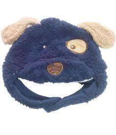 Dog Patch Navy Blue Fur Cap