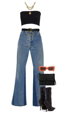 """simple"" by divinenk ❤ liked on Polyvore featuring RE/DONE, Balenciaga, Chanel and Linda Farrow"