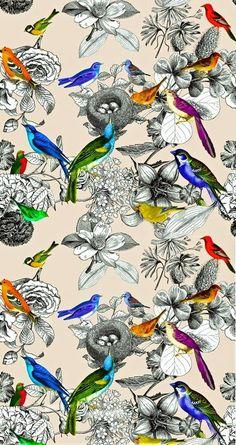 Créi que me costaría menos encontrar estampados de pájaros.  Los quería de estilo vintage y esto es lo que he encontrado   Enlaces:   http:/...