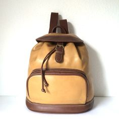 Vintage Leather Backpack by pascalvintage on Etsy, $42.00