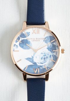 Trick of the Clock Watch by Olivia Burton - Blue, Multi, Solid, Luxe, Statement, Urban, Gold, International Designer, Summer
