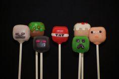 Minecraft cake pops by Lolapops1016 on Etsy, $45.00