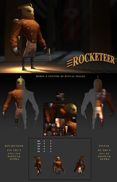 Rocketeer Low Poly